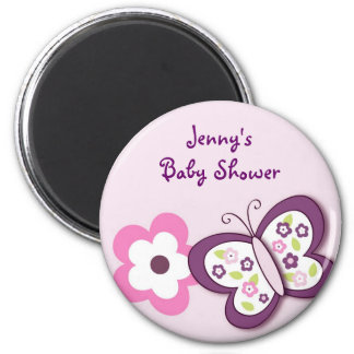 Plum Butterfly Baby Shower Magnets Favors Gift