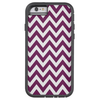 Plum Chevron Zigzag Stripes Tough Xtreme iPhone 6 Case