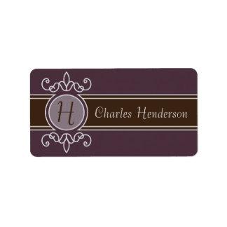 Plum Classic Harvest Property Labels