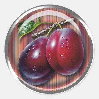 Plum Classic Round Sticker