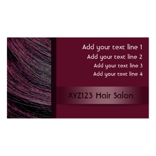 Plum Color Hair Hairdresser Appointment Cards Business Card