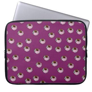Plum Crazy Daisy Laptop Sleeve Electronics Bag