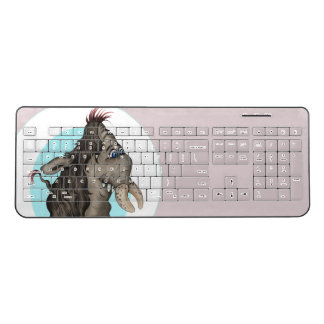 PLUM CUTE ALIEN Custom Wireless Keyboard 2