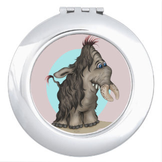 PLUM CUTE CARTOON compact mirror ROUND