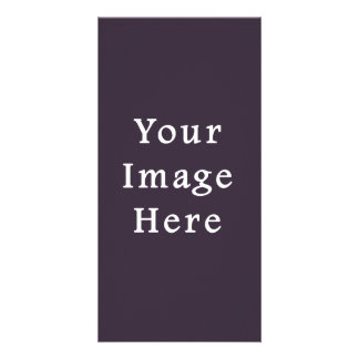 Plum Dark Purple Color Trend Blank Template Photo Greeting Card