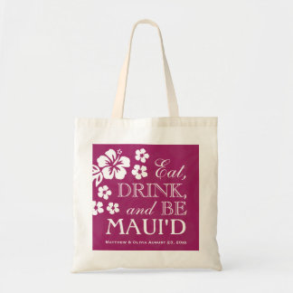 Plum Eat, Drink and Be Maui'd Tote Bag