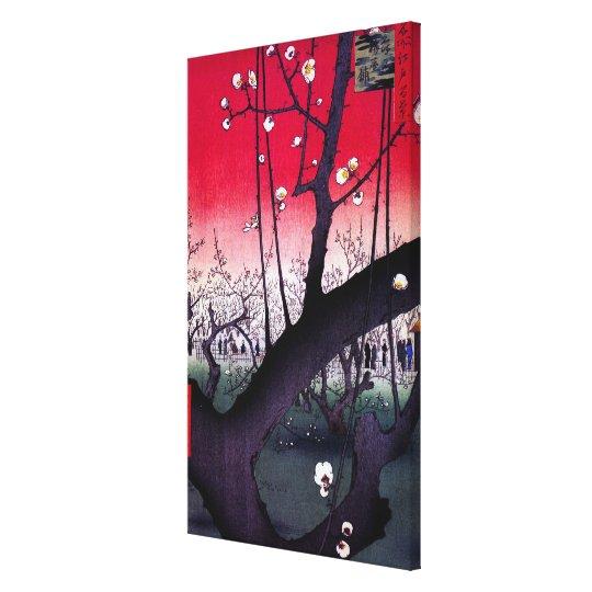 Plum Estate Kameido, Hiroshige Ando Canvas Print