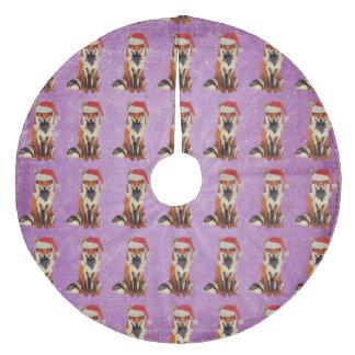 Plum Festive Fox Christmas Tree Skirt