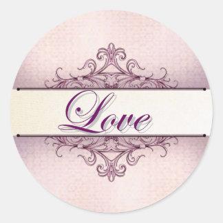 Plum Filigree Love Sticker