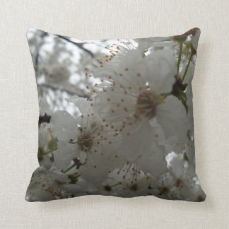 Plum Flower Throw Pillow Throw Cushion