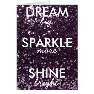 Plum Glitter Dream Sparkle Shine Card