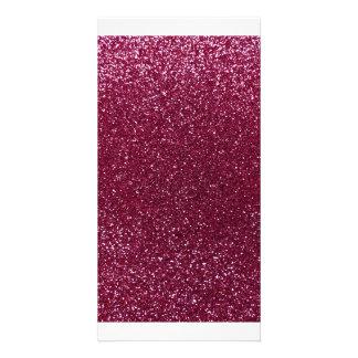 Plum glitter picture card