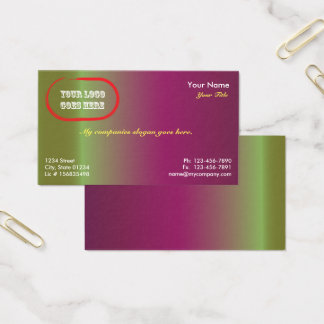 Plum Gradient 1 Sided Business Card Template v2