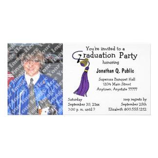 Plum Graduation Party Photo Invitation Photo Greeting Card