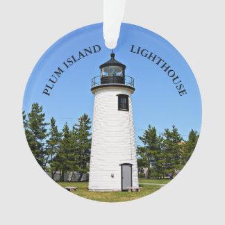 Plum Island Lighthouse, Massachusetts Ornament