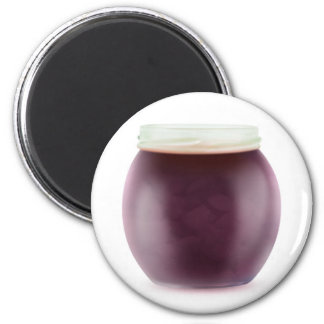 Plum jam 6 cm round magnet