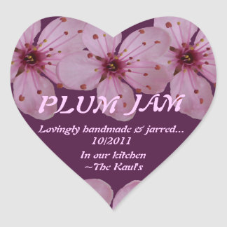 Plum Jam Jar Label (Personalize)