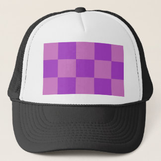 Plum Lavender Checkerboard Trucker Hat