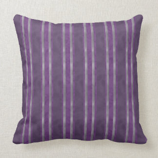 Plum Lavender Steel Stripes Cushion
