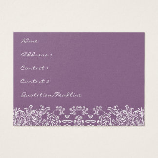 Plum Love Birds Business Cards