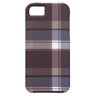 Plum Multi Plaid Tough iPhone 5 Case