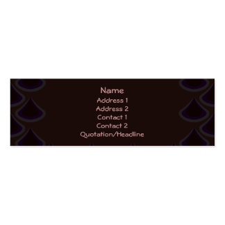 Plum Peacock Drops Pack Of Skinny Business Cards