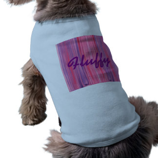 Plum-Pink and Purple striped watercolor Sleeveless Dog Shirt