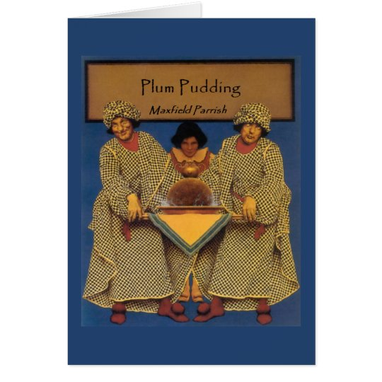 """Plum Pudding"", by Maxfield Parrish Card"