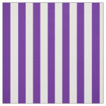 Plum Purple and White Vertical Stripes Fabric