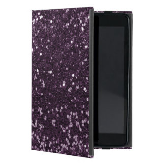 Plum Purple Faux Glitter Sparkle Print Cover For iPad Mini
