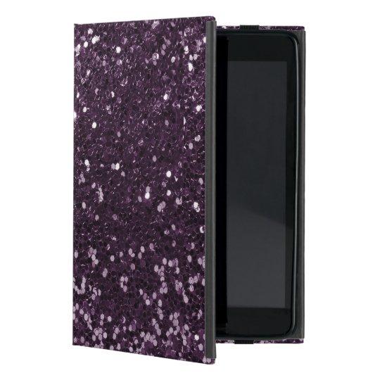 Plum Purple Faux Glitter Sparkle Print iPad Mini