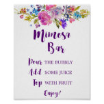 Plum Purple Garden Mimosa Bar Sign