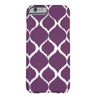 Plum Purple Geometric Ikat Tribal Print Pattern Barely There iPhone 6 Case