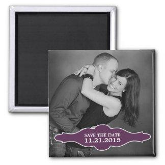 Plum Purple La Bon Vie Photo Save the Date Magnet