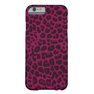 Plum purple leopard print pattern barely there iPhone 6 case