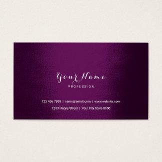 Plum Purple Noir Delicate Black White Vip Business Card