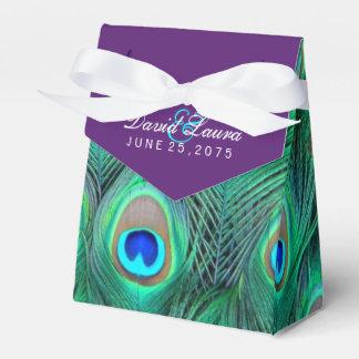 Plum Purple Peacock Wedding Wedding Favour Box