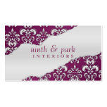 Plum Purple Ripped Damask Interior Design Pack Of Standard Business Cards