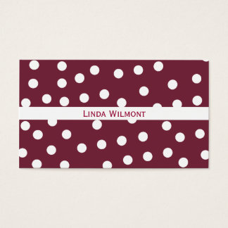 Plum Red Polkadots Business Card