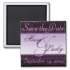 Plum Ribbon Save the Date Magnet