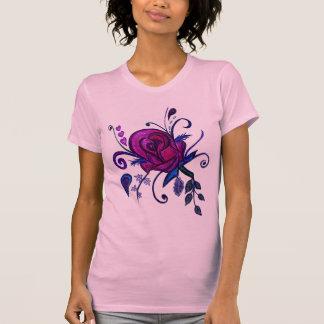 Plum Rose Drawing T-Shirt