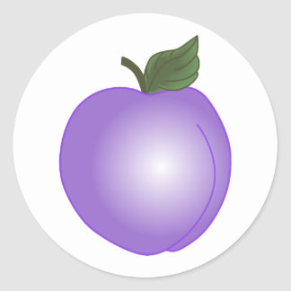 PLUM ROUND STICKER