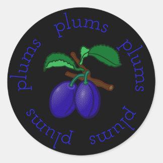 Plum Rounds Classic Round Sticker