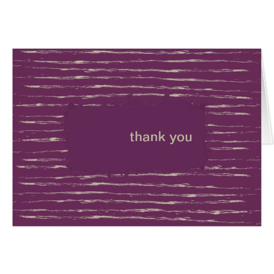 Plum Thank You Note Card
