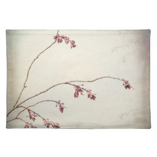 Plum Tree Branch with Spring Buds | Seabeck, WA Placemat