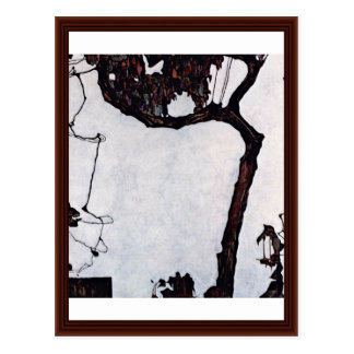 Plum Tree By Schiele Egon Postcard