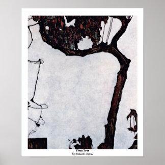 Plum Tree By Schiele Egon Poster
