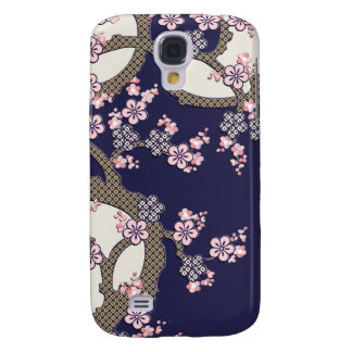 Plum tree flowers traditional japanese textile galaxy s4 case