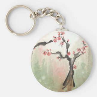 Plum Tree Keychain