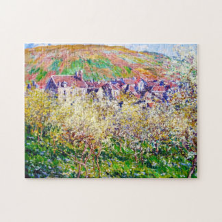 Plum Trees in Blossom at Vetheuil Claude Monet Jigsaw Puzzle